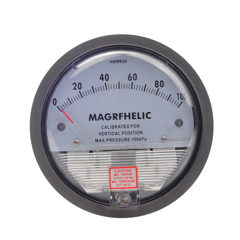 0-100mm Micro Differential Pressure Gauge High Precision 1/8