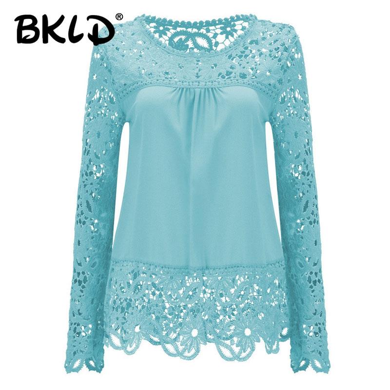 54f87db29db 2018 рубашки женские блузки кружевные Renda цветочные повседневные с  круглым вырезом Большие размеры Топы Blusas Femininas