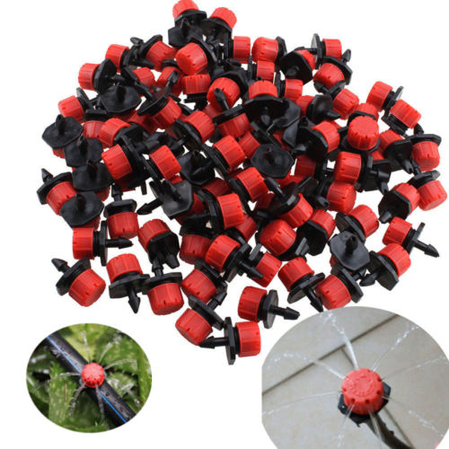 100pcs Adjustable Micro Drip Irrigation System Watering Sprinklers Plant Emitter Drippers For Garden Watering Tools