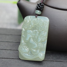 (Certificate) Natural HETIAN Jades Pendant Necklace Carved Animal Pixiu Bring Wealth Pendant Gift for Men's Jades Stone Jewelry