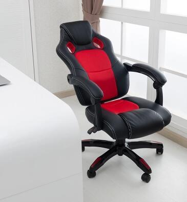E-sports games office chair, chair boss turn chair bag mail clerk can lie bowE-sports games office chair, chair boss turn chair bag mail clerk can lie bow