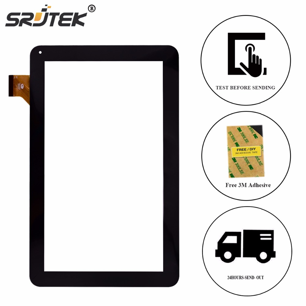 Srjtek 10.1 Black for Irbis TZ21 TZ22 3G Touch Screen Digitizer Panel Replacement Touchscreen Glass Tablet Sensor new touch screen digitizer for 7 irbis tz49 3g irbis tz42 3g tablet capacitive panel glass sensor replacement free shipping