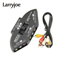 Larryjoe Audio Video AV RCA Switch Splitter Selector 3 to 1 RCA Composite AV Cable for STB TV DVD Player for XBOX PS2(China)