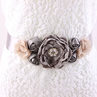 4 Colors Maternity Sash Belt Bridesmaid Accessory Photo Prop Baby Shower Newborn Flower Sash Bridal Wedding