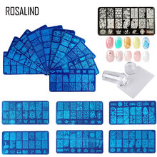 ROSALIND Rubber stamp for nail stamping plates Stamper Scraper with Cap Template All for manicure Top Gel Stamp for Nail Art(China)