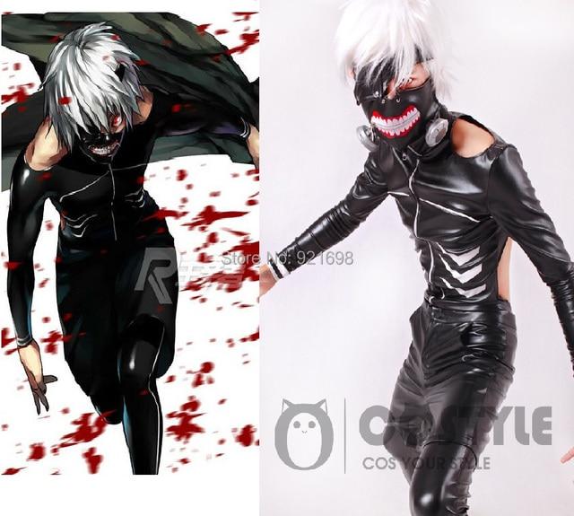 New Anime Tokyo Ghoul Kaneki Ken Cosplay  Costume PU Leather Halloween costume made any size