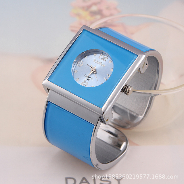 Gift selling candy colored bracelet watch the high-end luxury brand simple quart