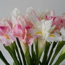 1 шт. искусственный ирландский Цветок ириса для осени принадлежность свадебного стола украшения дома поддельные ирландский цветы искусств...