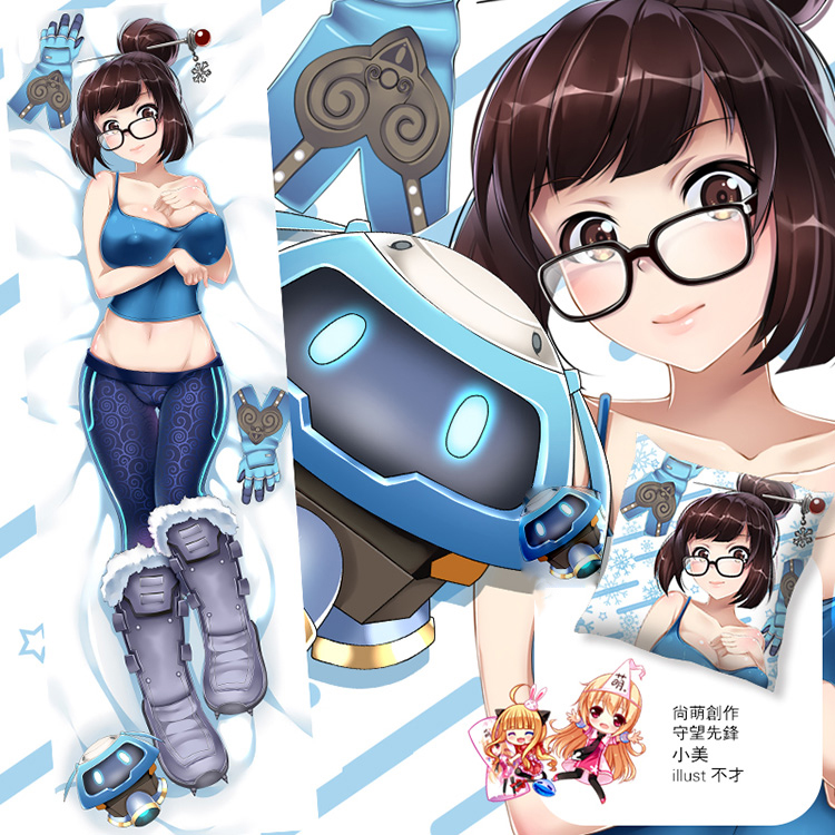 50X150Cm Overwatch Video Game Mei Bodysuit Kalua Cameltoe Cartoon Anime Art Wall -9620