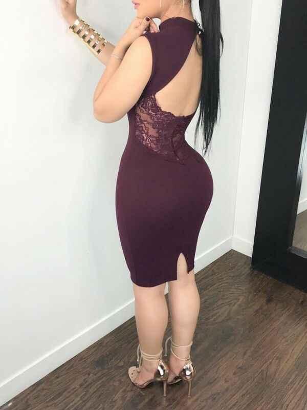 المرأة مثير سليم الجوف الصيف فستان مصغر الدانتيل عارية الذراعين حفلة صغيرة مساء Bodycon فستان رصاص