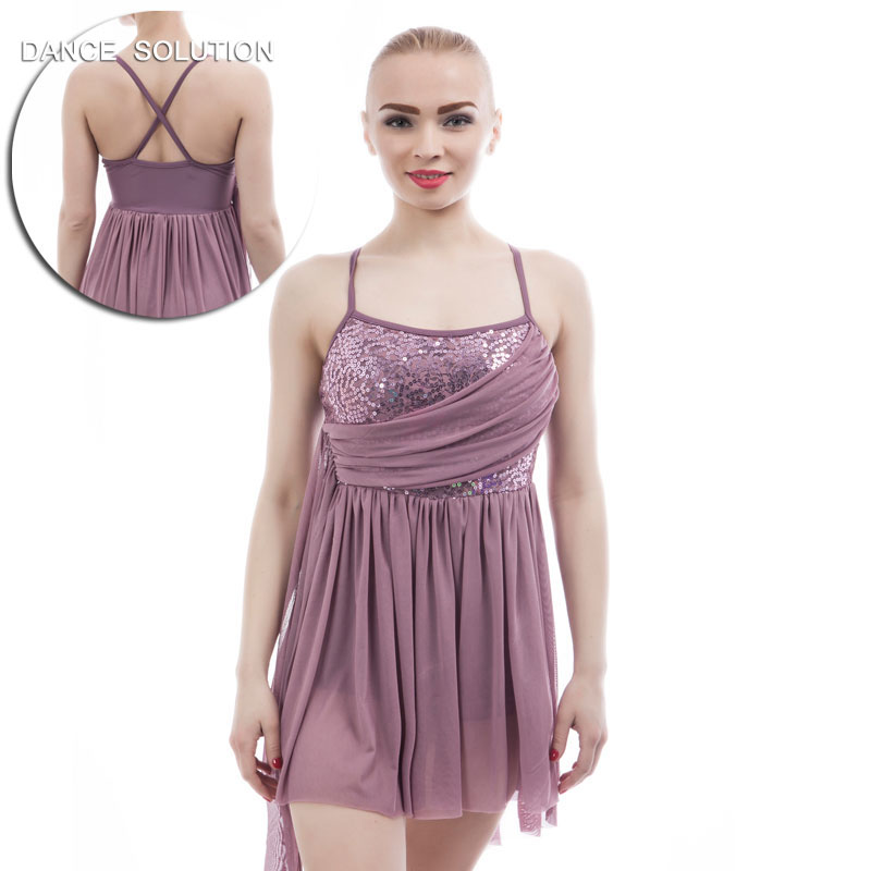 Purple Grey Ballet Dance Costume Girls and Women Stage Costume Lyrical Dress Contemporary Dance Costumes 17303