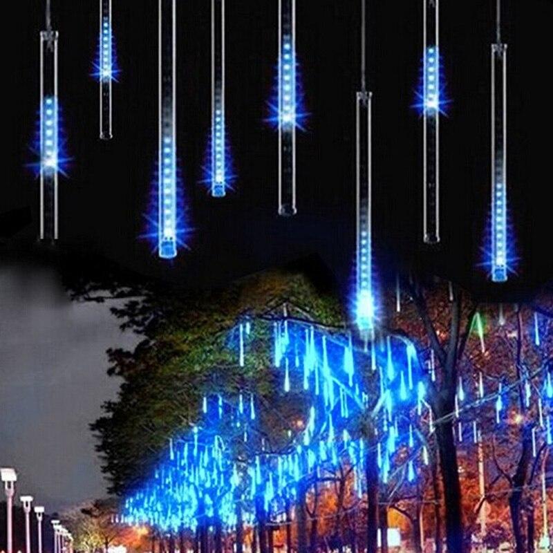 HOTOOK Multi-color LED String Light 50CM 240LED Meteor Shower Rain Tube Christmas Lights Wedding Party Garden 8pcs/set