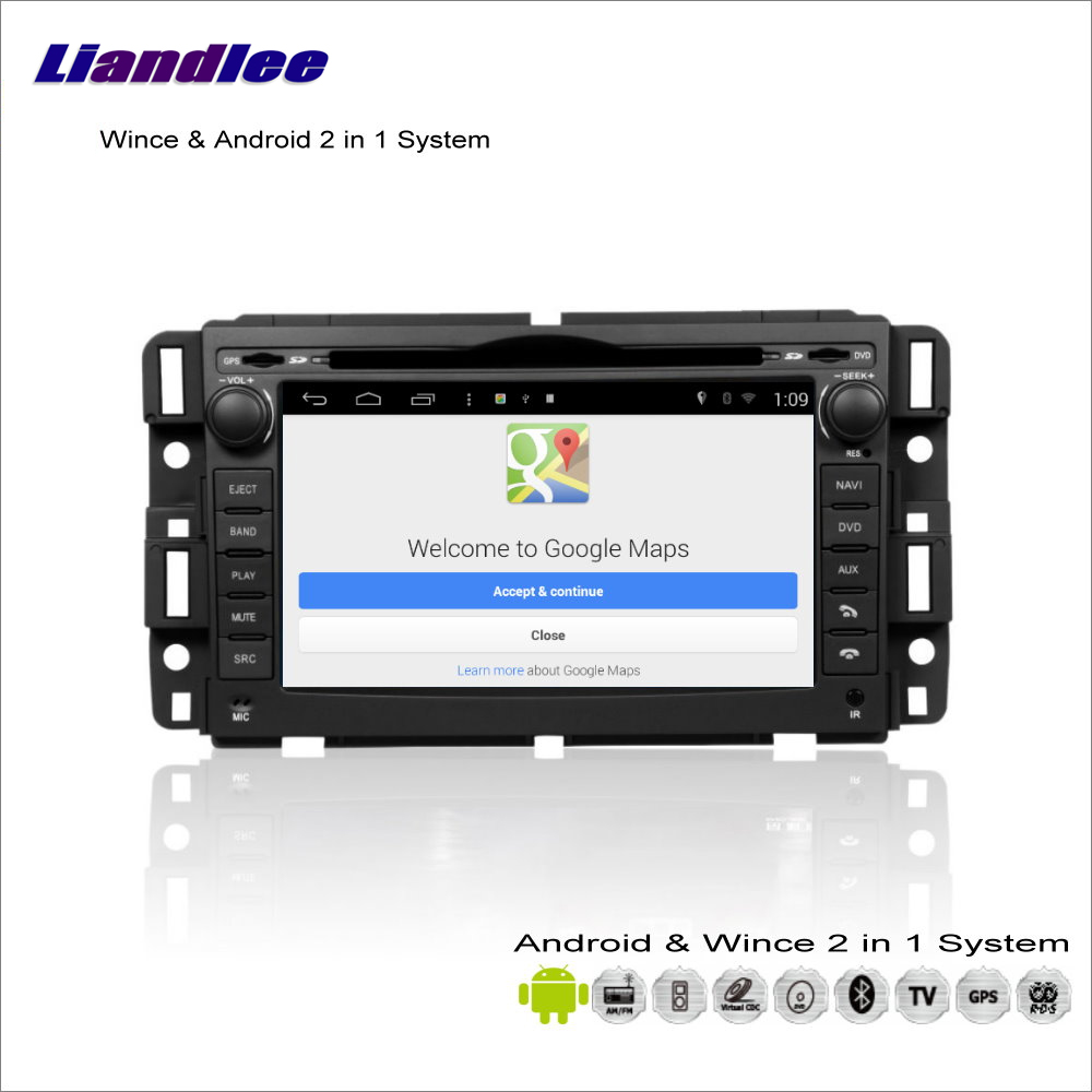 Liandlee For Chevrolet Impala / Avalanche 2006~2013 Car Radio BT CD DVD Player GPS Navigation Wince & Android 2 in 1 S160 System