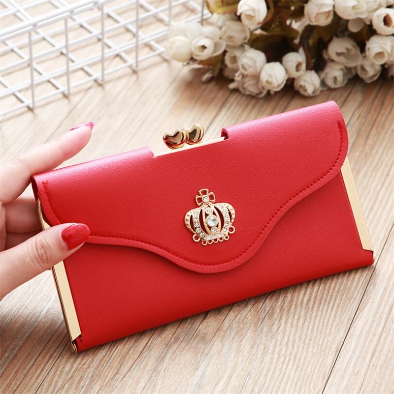 2019 Fashion Women Trendy PU Leather Clutch Wallet Long Card Holder Purse Box Handbag Bag