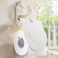 European baking white varnish roll paper rack, Zinc Alloy antique toilet paper holders, Bathroom kitchen tissue paper holders
