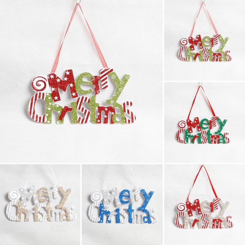 christmas tree ornaments merry christmas letter hanging paper xmas party crafts accessories christmas decoration a2