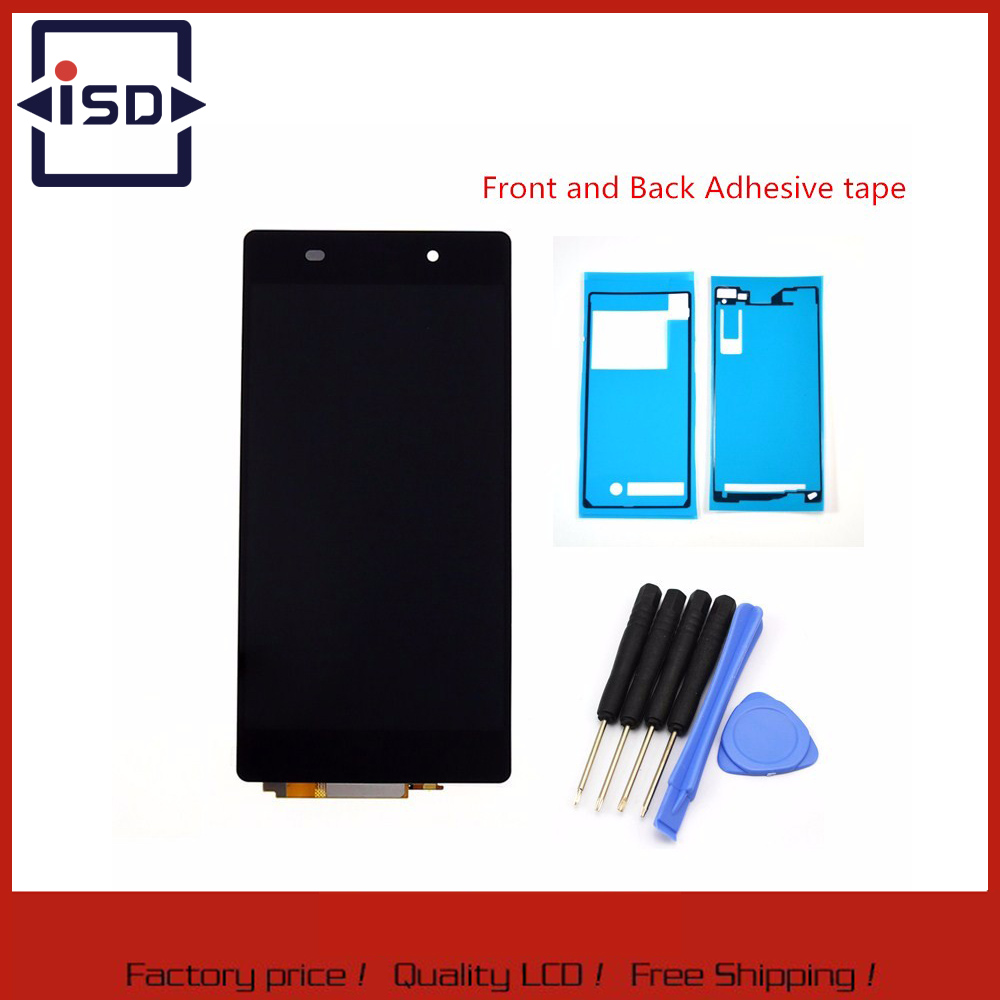 High quality Black For Sony Xperia Z2 L50W D6502 D6503 Screen Display With Touch Screen Digitizer Assembly + Adhesive + Tools high quality black for sony xperia z2