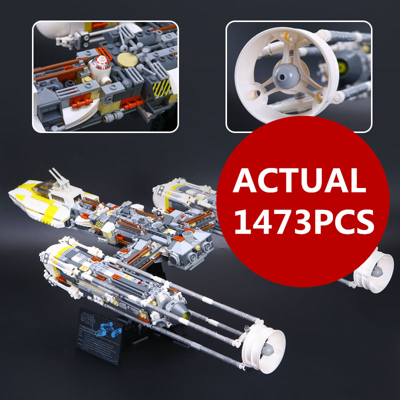 Lepin 05040 Star toys Series War The Y Set Wing Attack Star Model fighter Building Blocks Assembled bricks gift Compatible 10134 rollercoasters the war of the worlds
