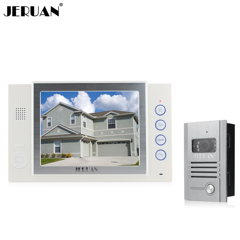 JERUAN 8 inch video door phone doorbell Record intercom system video recording photo taking 700TVL COMS camera free shipping