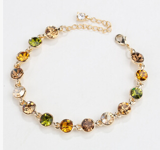 Korea New Hot Round Crystal font b Women b font Bracelet Fashion Jewelry Elegant Lady All