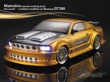 Mustang GT350 1/10 1:10 RC PC body shell 200mm width Transparent clean no painted drift hsp hpi trax Tamiya