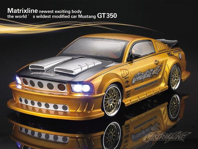 Mustang GT350 1/10 1:10 RC coque de carrosserie 200mm largeur transparente propre sans dérive peinte coque de carrosserie RC hsp hpi trax Tamiya