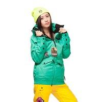 Зимние лыжные костюмы с двойным шпоном женские модели Толстая утолщенная теплая Южная Корея Альпинизм зимняя верхняя одежда толстовки