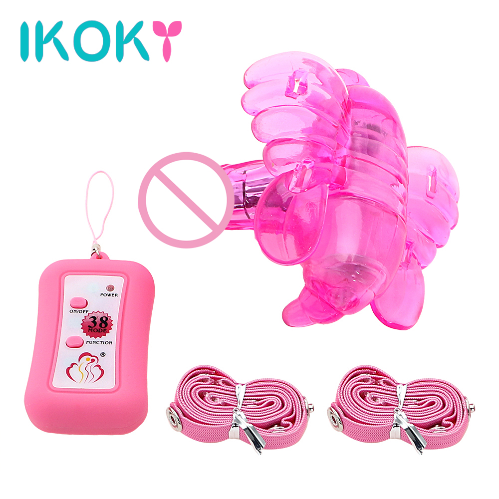 IKOKY Female Masturbator Wearable Butterfly Vibrator with Wireless Remote Control Adult Sex Toys for Women Silicone Sex Products