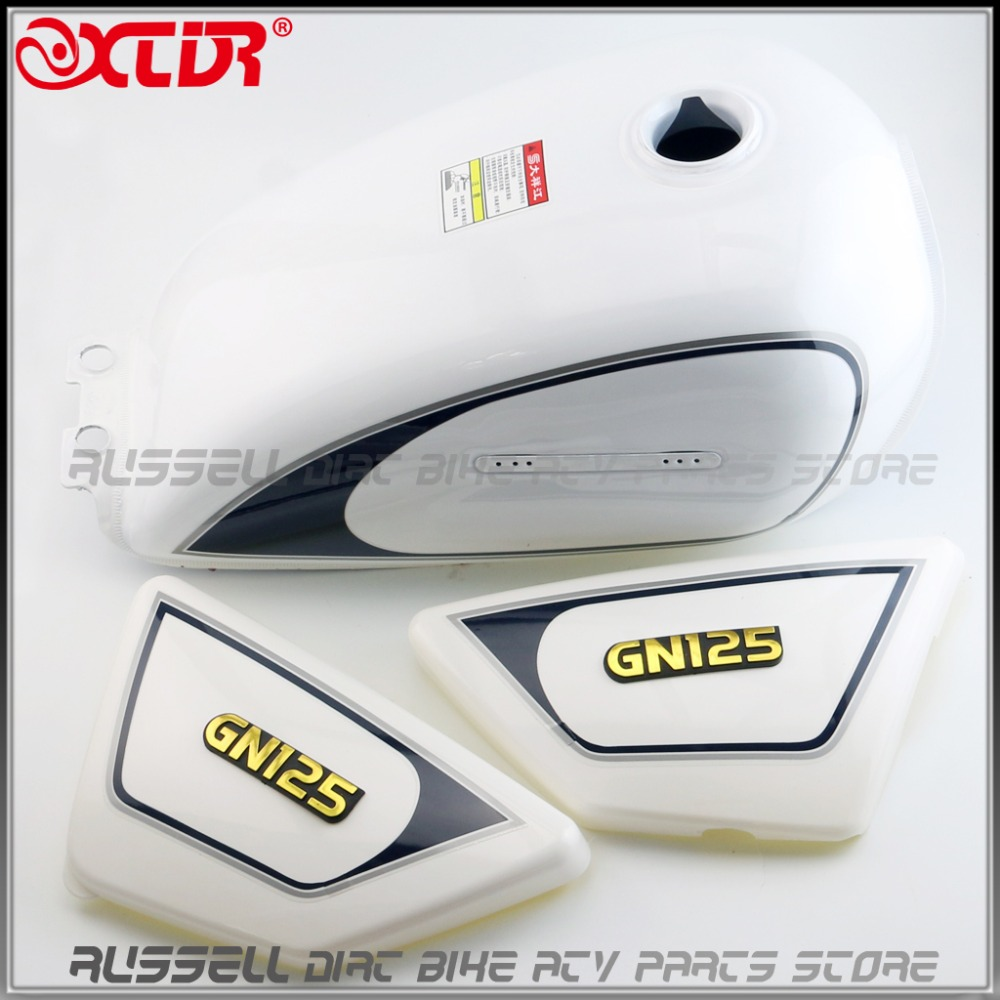 Fuel Tank Plastic Cover Left Right SIDE FAIRING PANEL COVER For SUZUKI GN125 GN 125