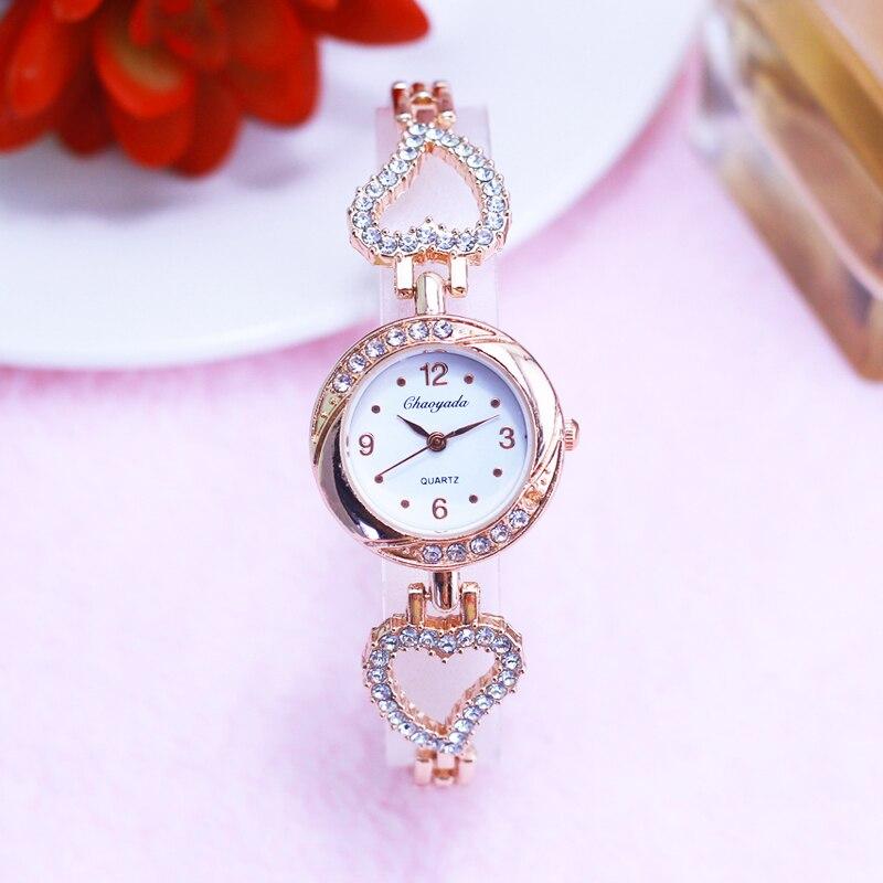 2018 CYD women girls rose gold love luxury fashion diamond watches female lady d