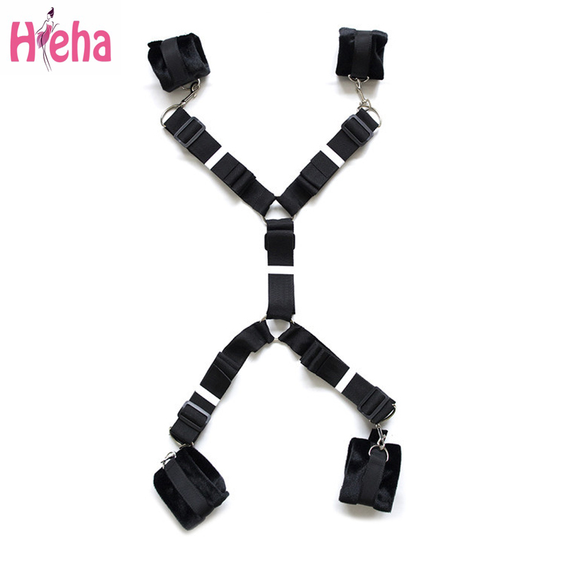 HiHa <font><b>Adult</b></font> Games <font><b>Sex</b></font> <font><b>Tools</b></font> Bondage Harness Bed BDSM Restraints Foot Hand Cuffs Love <font><b>Sex</b></font> Toys <font><b>Sex</b></font> <font><b>Products</b></font> For Couples image