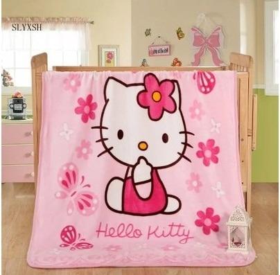 6ef5a4aeaf Winter Baby Blanket  Children Girl s Soft Coral Quilt 100 140cm Hello kitty