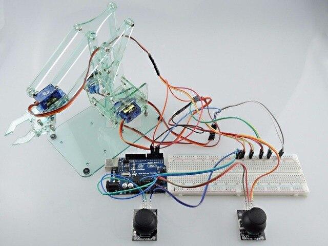 [Sintron] Мини Промышленного Робота-Манипулятора Комплект + Servo UNO R3 для Arduino Starter