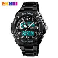 SKMEI 1333 Sport Analog Digital Watch Men Waterproof Sportwatch Quartz Mens Watches Male Backlight Countdown Sports Wristwatch