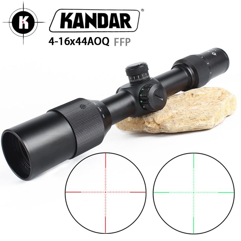 KANDA 4 16X44A OQ FFP Tactical Riflescope Red Green Illuminated Rifle Scope Sniper Optic Sight Hunting Scopes rifle air red dot