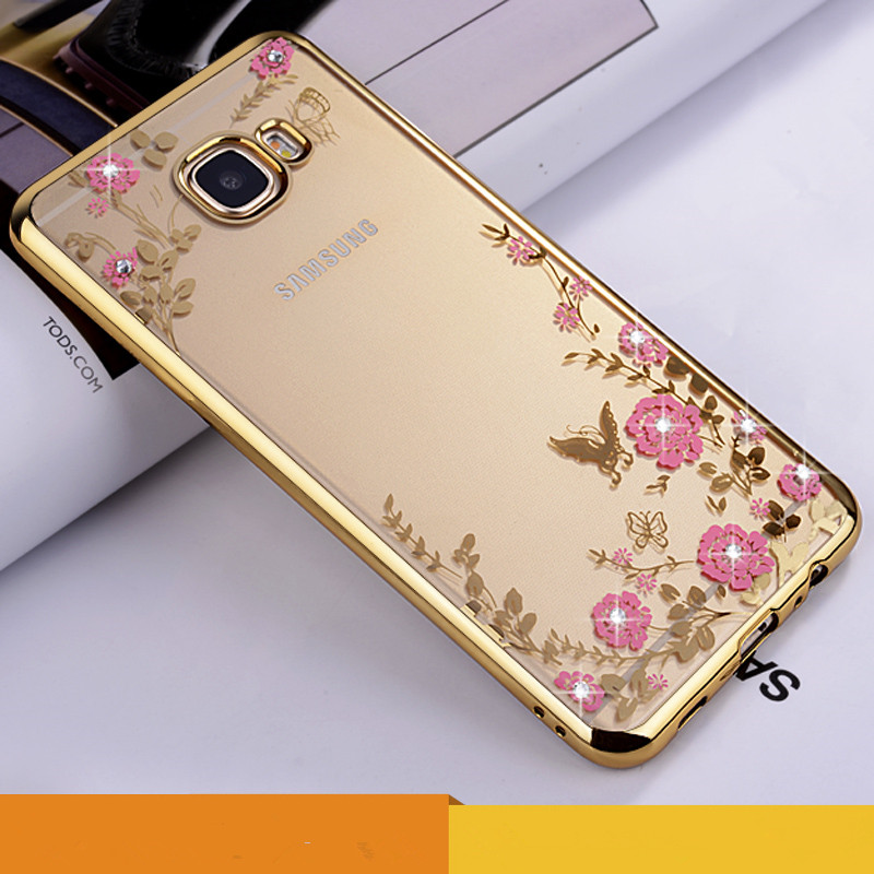 xinchentech Official Store Xinchentech For Samsung Galaxy A510 Case Luxury Plating Gilded TPU Cover silicone soft Back Coque Accessories Capa A5(2016)