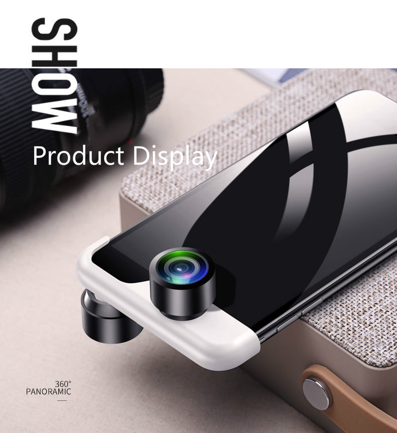 Mobile Phone 360 Degree Panoramic Lens SLR Fisheye HD Wide angle Mobile Phone Lens for iPhone 6 6s 6P 6sP 7 7P 8 8P X