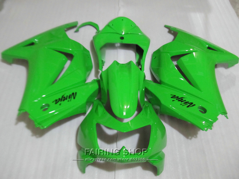 Bodywork ABS plastic fairing kit For Kawasaki ninja 250r 08 09 10-14 2008-2014 green EX250 fairings set PO43