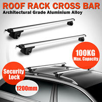 Universal 120cm Car Roof Rack Cross Bar Lock Anti theft Rail Lockable Adjustable Aluminum Cargo Luggage Carrier Max Load 220Lb