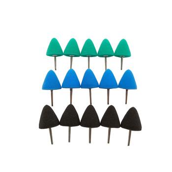 Niebieski mini stożek nakładka polerska szczegóły gąbka tarcza polerska do narzędzia obrotowego polerka wiertarka elektryczna woskowanie glazura uszczelniająca tanie i dobre opinie HUTU Elipsa 25mm 1 Green Blue Black Different Hardness Cone Shape Sponge foam
