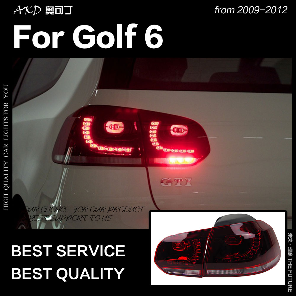 2021 Vw Golf R Rendering Is All About The Headlights: AKD Car Styling For VW Golf 6 Tail Lights 2009 2012 Golf6