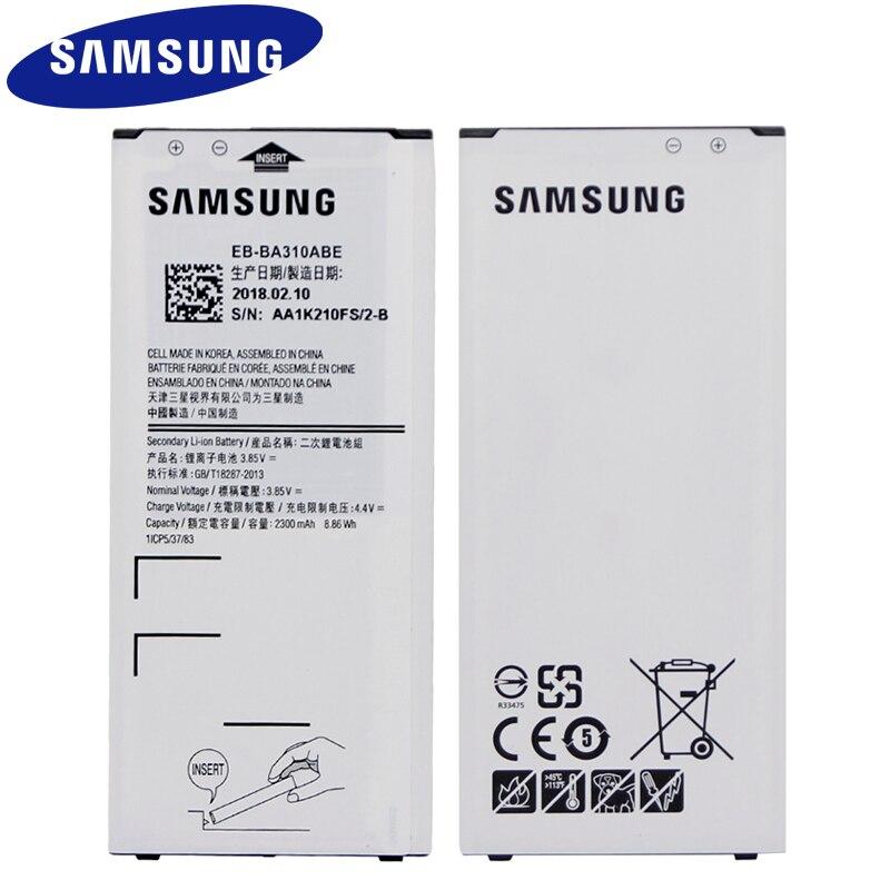 SAMSUNG EB-BA310ABE Per Samsung GALAXY A3 2016 Edizione A310 A5310A Autentico Batteria 2300 mah NFC Sostituzione Della Batteria Del Telefono