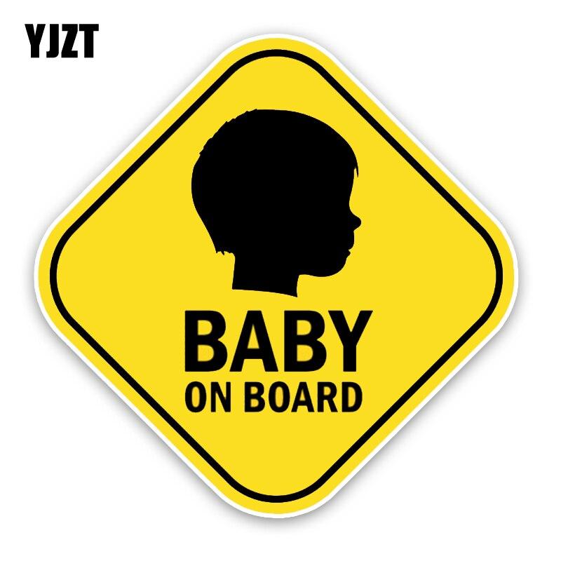 Yjzt 14.4*14.4 см ребенок на борту силуэт Предупреждение знак бампер автомобиля Стикеры автомобиль украшения этикеты c1-5626