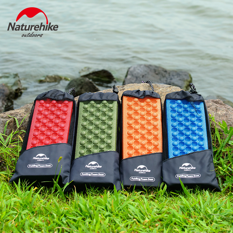 NatureHike Outdoor Ultralight Folding Mat EVA Foam Cushion Moistureproof Mattress Egg Slot Design Comfortable Sitting Pads