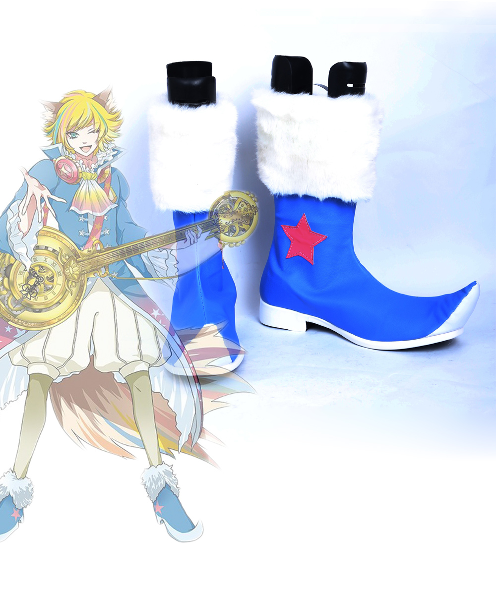 Игровое шоу рок Шу ЗО Косплэй Обувь Сапоги и ботинки для девочек индивидуальный заказ