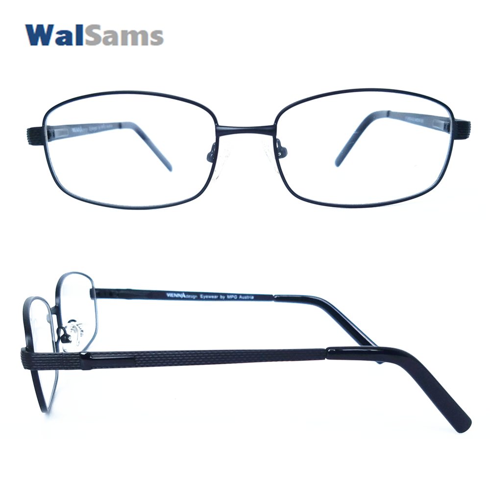 Korrektionsbrillen 017 Designer Tr90 Kombiniert Mit Aluminium Flexible Scharnier Seite Arm Anti-slip Tempel Tipps Brillen Für Miyopia Teens