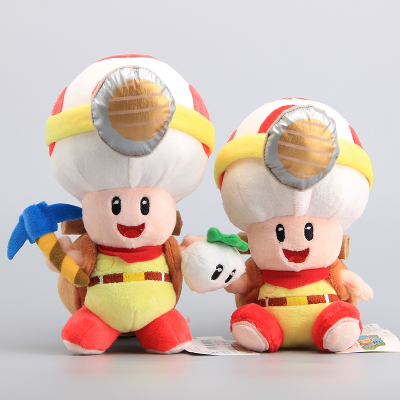 NEW Super Mario Captain Toad Treasure Tracker Plush Toys Standing & Sitting Toad Stuffed Dolls With Tag 18-20 CM