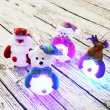12Lots Led Light Lamp Baubles Hanging Deer Snowman Snowflack Shape Christmas Tree Decorations christmas snowman baubles pattern stair stickers