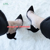 Hot Fashion PVC Patent Leather Women Pumps Beige White Silver Pointed Toe High Heels Shoes Wedding