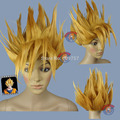 Goku Saiyan Costume Gold Halloween Wigs (fits both adult and children) fibre no Front Wigs Free deliver